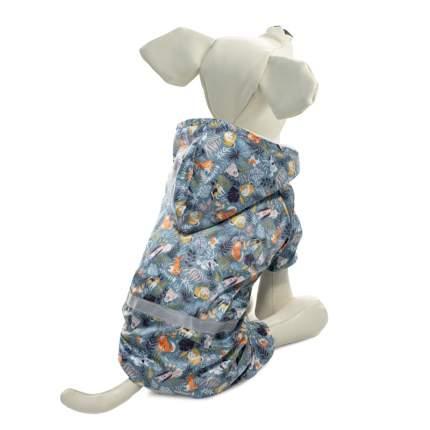 Костюм, дождевик для собак Triol Зверята, унисекс, синий, M, длина спины 30 см