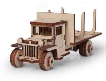 Конструктор деревянный 3D Lemmo Грузовичок лесовоз 00-82 подвижный