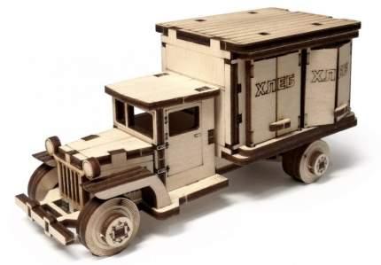 Конструктор деревянный 3D Lemmo Грузовичок. Фургон подвижный