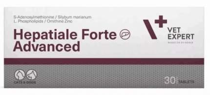 Гепатопротектор для собак и кошек ВетЭксперт Hepatiale Forte, VetE 3 блистера по №10 таб