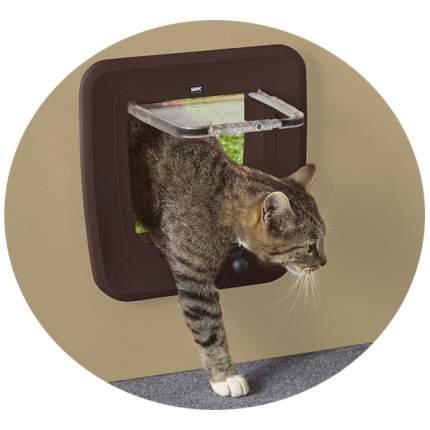 Дверца для кошки, собаки Savic Magnetic 28,5*29,5см, коричневый