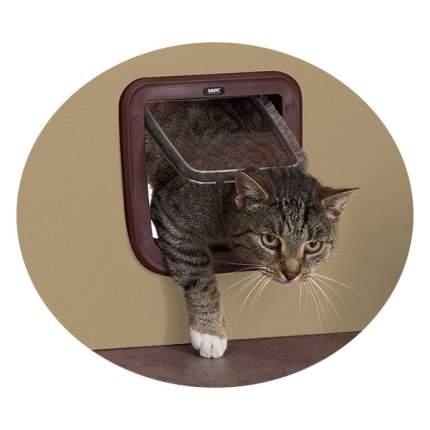 Дверца для кошки, собаки Savic Basic 21*22 см, коричневый