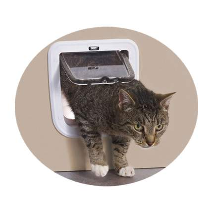 Дверца для кошки, собаки Savic Basic 21*22см белый