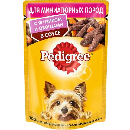 Влажный корм для собак Pedigree, ягненок, овощи,  85г