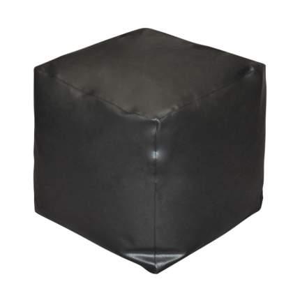 Бескаркасный пуф-куб Pazitif БМЭ9 one size, экокожа, Черный