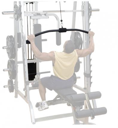 Верхняя нижняя тяга с весовым стеком 95 кг для машины Смита Body-Solid GS348Q