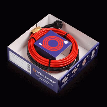 Греющий кабель ТЕПЛАЙНЕР PROFI КСП-15, 30 Вт, 2 м, для обогрева внутри трубы
