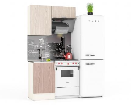 Кухня Мебельный Двор Мери 01 дуб/ясень шимо светлый/тёмный, 110х60х212 см