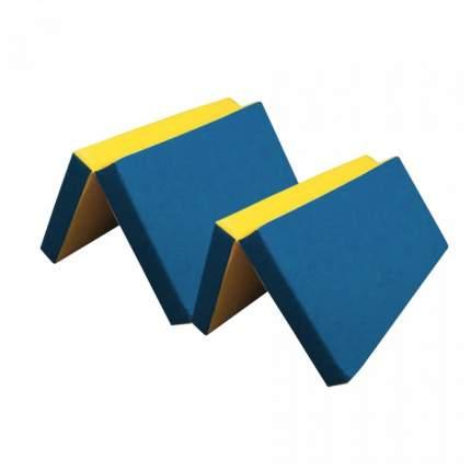 Мат ILGC №7 (200 х 100 х 10) складной (синий/желтый)