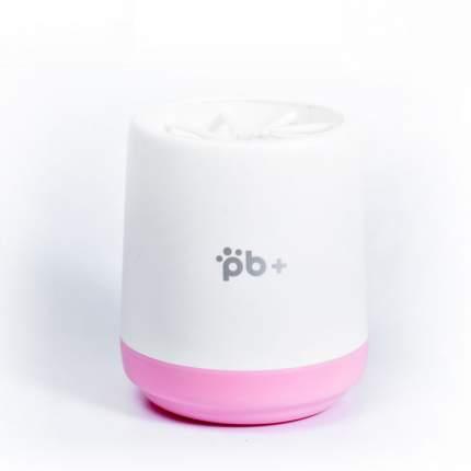 Лапомойка для собак Pb+ пластик, силикон, розовый, белый, высота 10.6 см