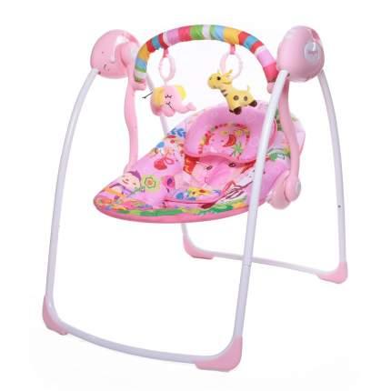 Электрокачели Babycare SAFARI с адаптером, Розовые джунгли (Pink Jungle)