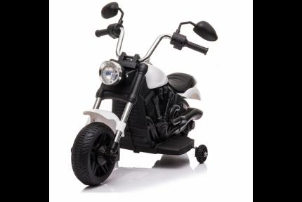 Детский электромотоцикл Jiajia 8740015-White с надувными колесами