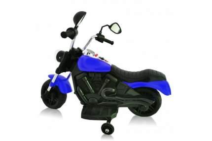 Детский электромотоцикл Jiajia 8740015-Blue с надувными колесами