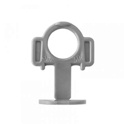 Зажим 3D Krestiki ЗД+СВП 2мм серые (500шт)