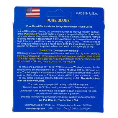 Струны для электрогитары DR Strings DR PHR-10 Pure Blues 10-46