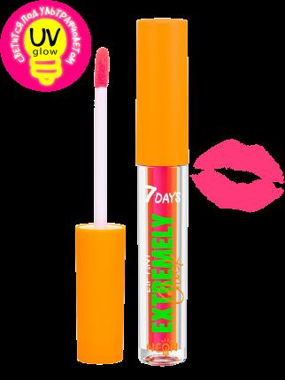 Тинт для губ 7DAYS  светящийся EXTREMELY CHICK UVglow Neon  202 Instant love, 2,5 мл
