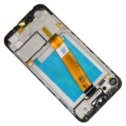Дисплей для Samsung SM-A015F (Galaxy A01) модуль в сборе с тачскрином <черный> (оригинал)