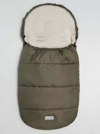 Конверт зимний меховой Amarobaby Snowy Travel Хаки, 105 см