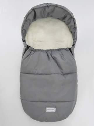 Конверт зимний меховой Amarobaby Snowy Baby Серый, 85 см