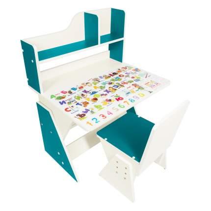 Детская растущая парта и стул Я САМ Первое место, цвет Океан
