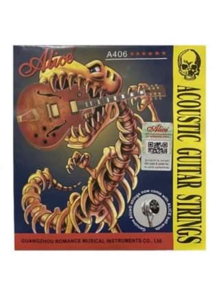 Cтруны для акустической гитары, A406, комплект 6шт