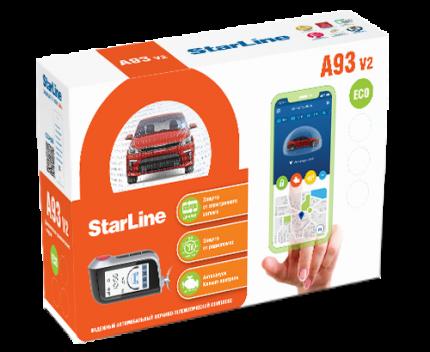 Автосигнализация StarLine A93 v2 (ECO ЖК брелок)