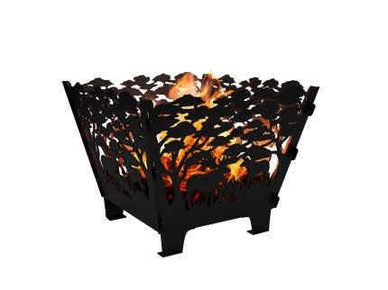 Очаг FireWood дровяной стационарный черный