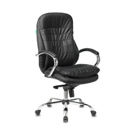 Кресло руководителя БЮРОКРАТ T-9950, на колесиках, кожа, черный [t-9950/black]
