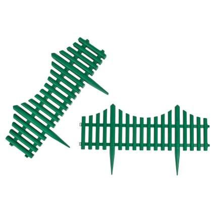 """Забор декоративный штакетник """"Модерн"""", тёмно-зелёный"""