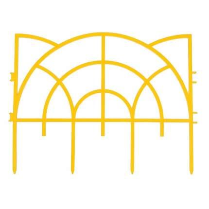 """Забор декоративный ажурный """"Роккоко"""", жёлтый"""