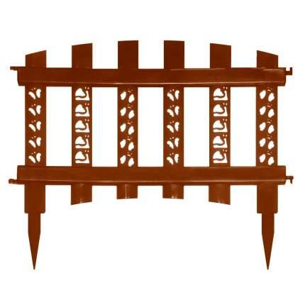 """Забор декоративный """"Палисадник"""", светло-коричневый"""