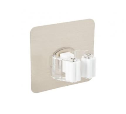 Универсальный роликовый держатель для швабры настенный (белый) New4