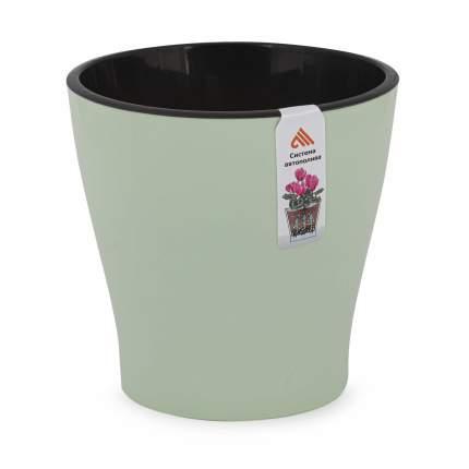 """Горшок цветочный для орхидеи """"Лея"""", двойной, с автополивом, 2,2 литра (светло-зелёный)"""