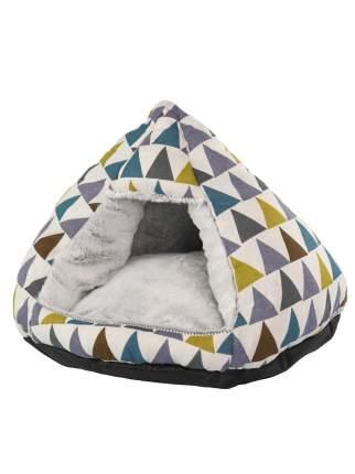 Домик для кошек, для собак Не Один Дома , разноцветный, 43x43x33см