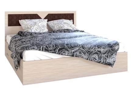 Двуспальная кровать Вероника Ясень шимо светлый/Лиственница темная, 1600х2000 мм