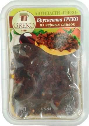 Брускетта Greko из черных оливок