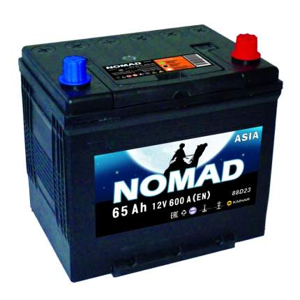 Аккумулятор легковой «NOMAD» Asia 65Ач о/п D23L