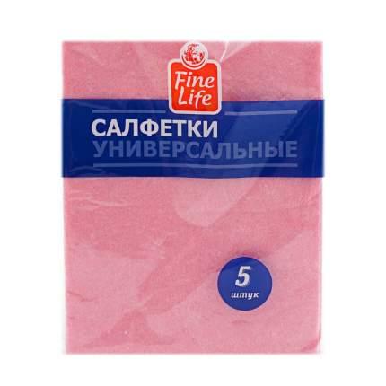 Салфетки Fine Life универсальные вискозные 5 шт цвета в ассортименте