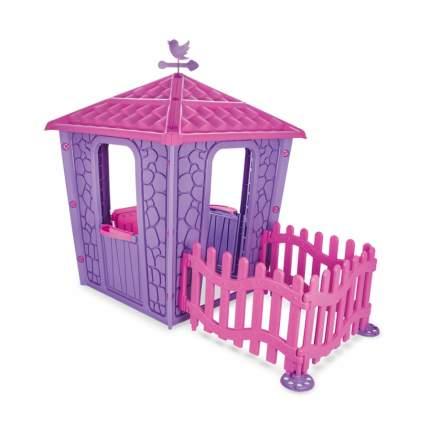Детский игровой дом PILSAN Stone House Purple с забором