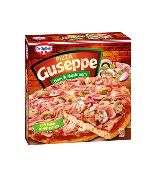 Пицца Guseppe с ветчиной и грибами замороженная