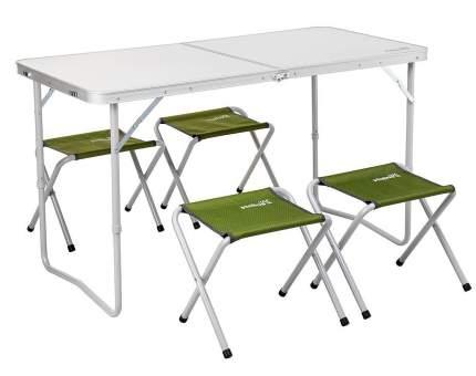 Набор мебели (СТАЛЬ), стол + 4 табурета (Т-FS-21407+21124-SG) Helios (Зеленый, )