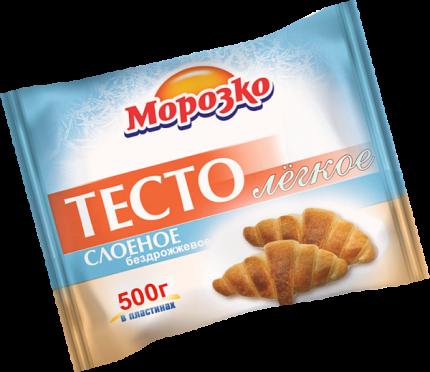 Тесто Морозко слоеное бездрожжевое легкое