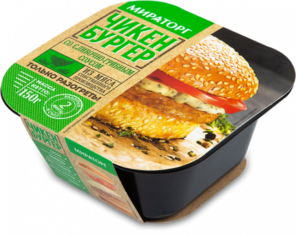 Чикенбургер Мираторг с сливочно-грибным соусом