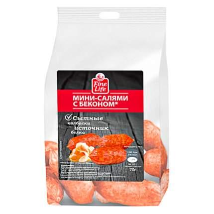 Колбаски Fine Food Мини-салями сырокопченые с беконом 70 г