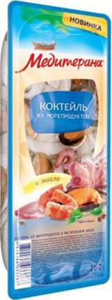 Коктейль Медитерана из морепродуктов в масле 200 г