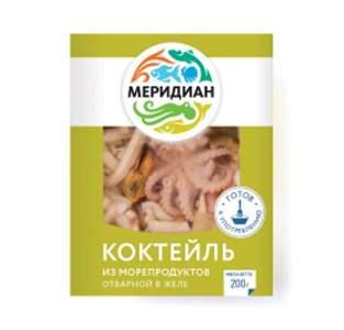 Коктейль Меридиан из морепродуктов в желе 200 г