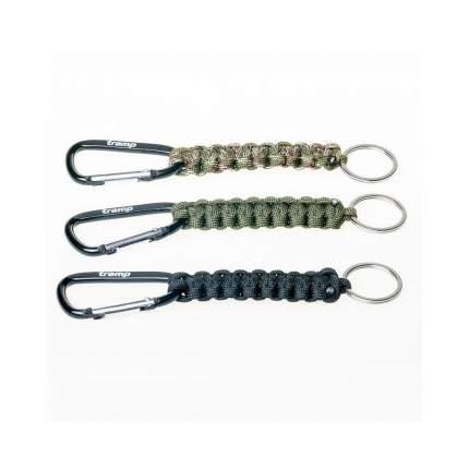 Tramp брелок паракордовый для ключей (карабин/кольцо для ключей) (паракорд, Черный)