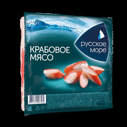 Крабовое мясо Русское море охлажденное 200 г