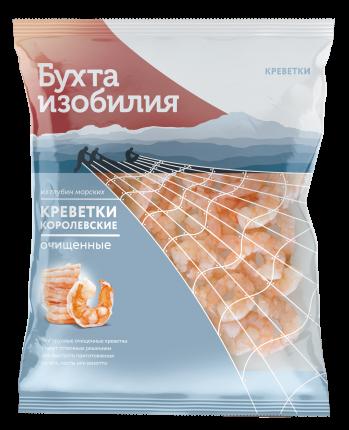 Креветки Бухта Изобилия королевские варено-мороженые 500 г