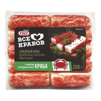 Крабовые палочки Vici с мясом натурального краба замороженные